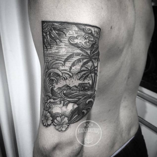Top 60 Des Tatouages Sur Le Th 232 Me De La Vague