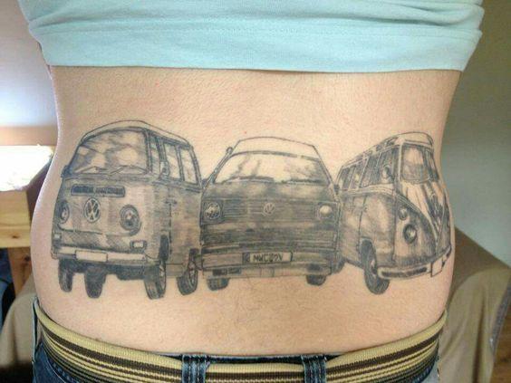 le top des tattoos inspires du combi van volkswagen