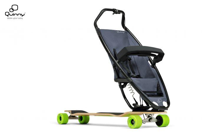 Longboard stroller : La longboard poussette par Quinny