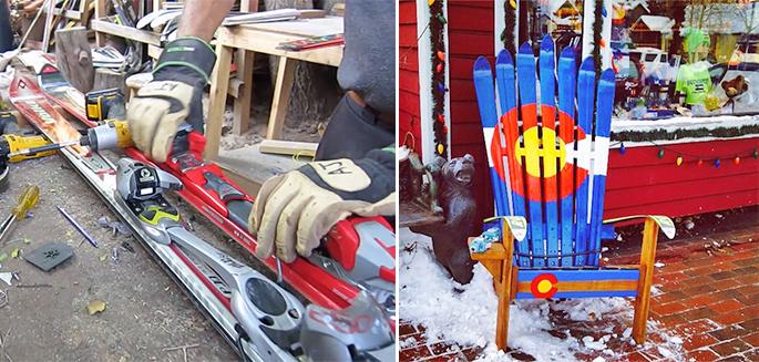 Recyclage Comment Construire Une Chaise Adirondack Avec Des Skis