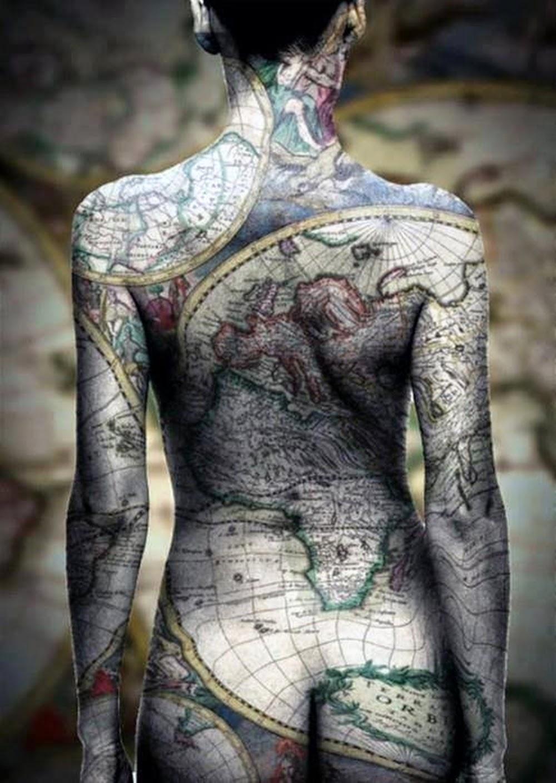 tatouages carte du monde