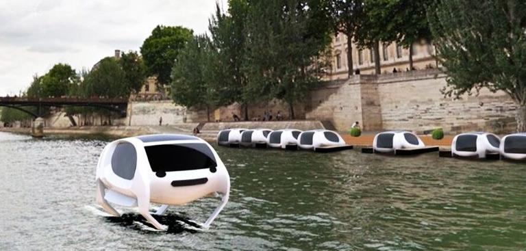des voitures volantes sur la seine pour traverser paris en 15 minutes. Black Bedroom Furniture Sets. Home Design Ideas