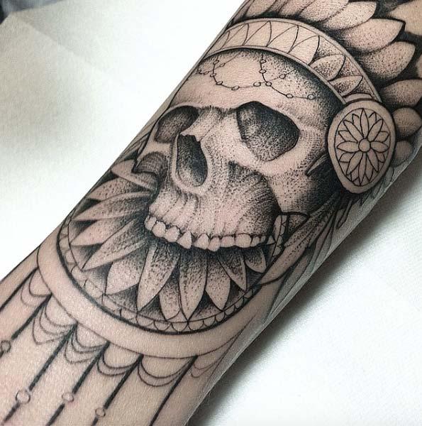 skull-tattoos-indien