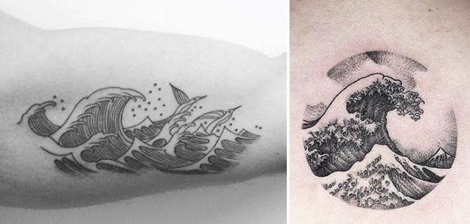 tattoo wave