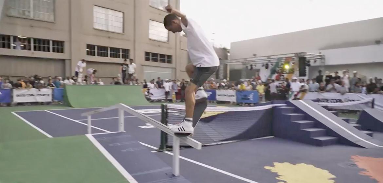 Insolite un cours de tennis transform en skatepark for Un cours de tennis