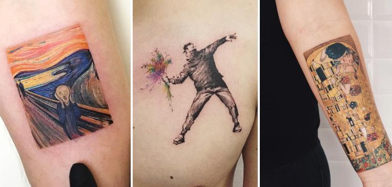 top 40 des tatouages inspir s d 39 oeuvres d 39 art. Black Bedroom Furniture Sets. Home Design Ideas