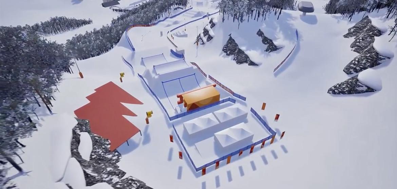 D 233 Couvrez Le Parcours De Snowboard Cross Des Jo D Hiver 2018