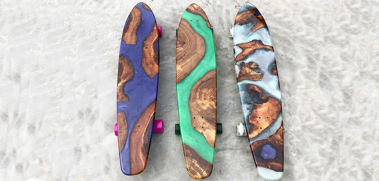 skate un m lange de r sine et de bois pour des planches. Black Bedroom Furniture Sets. Home Design Ideas