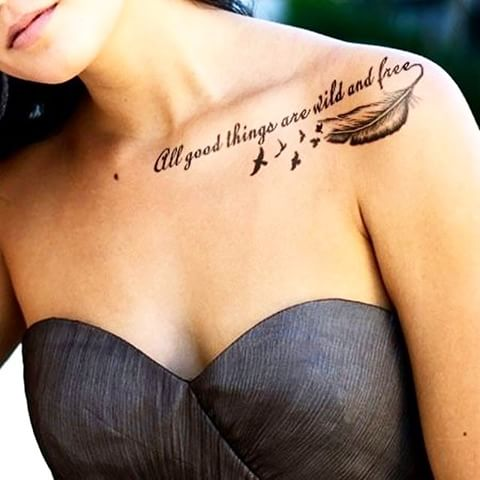 Top 50 des tatouages avec une citation ou un message - Phrase a tatouer ...