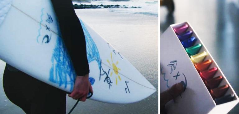 rip curl lance les crayons en wax pour d corer sa planche de surf. Black Bedroom Furniture Sets. Home Design Ideas